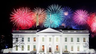 video: Watch: Bidens watch Inauguration Day fireworks from the White House