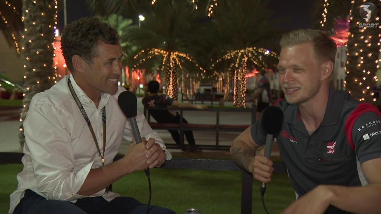 Tom Kristensen og Kevin Magnussen. Bahrain 2017.