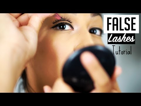 HOW-TO APPLY FALSE LASHES | HOW- TO CLEAN YOUR FLASE LASHES | EMPERATRIZG