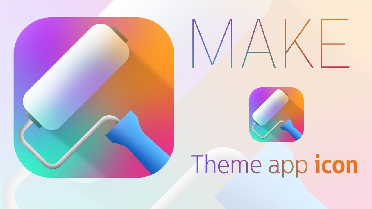 HOW TO DESIGN THEME APP ICON FOR ANDROID / IOS (ai & ps