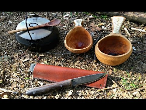 Bushcraft - Cowboy coffee, Bannock & Danish knife