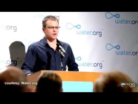 Matt Damon - No Toilet Day - YouTube