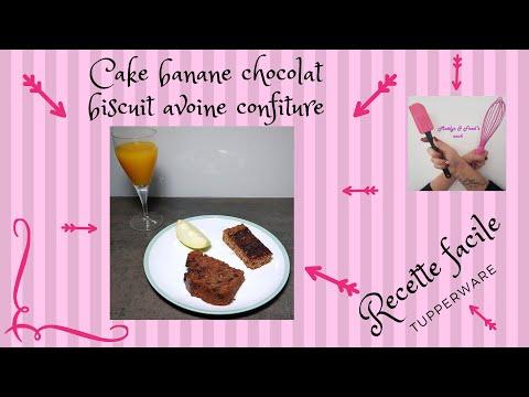 cake-banane-chocolat-et-biscuit-avoine-confiture-recette-facile-tupperware-healthy