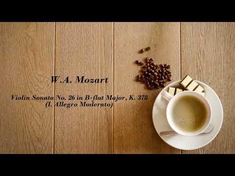 W.A. Mozart: Violin Sonata No. 26 in B-Flat Major, K. 378 (317d) - (I. Allegro Moderato)