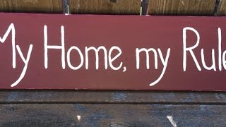 Make A Rustic Wood Sign - Home - Guidecentral
