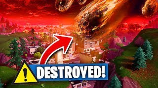 The LAST DAY of TILTED TOWERS in Fortnite Battle Royale?! (METEOR COMING)