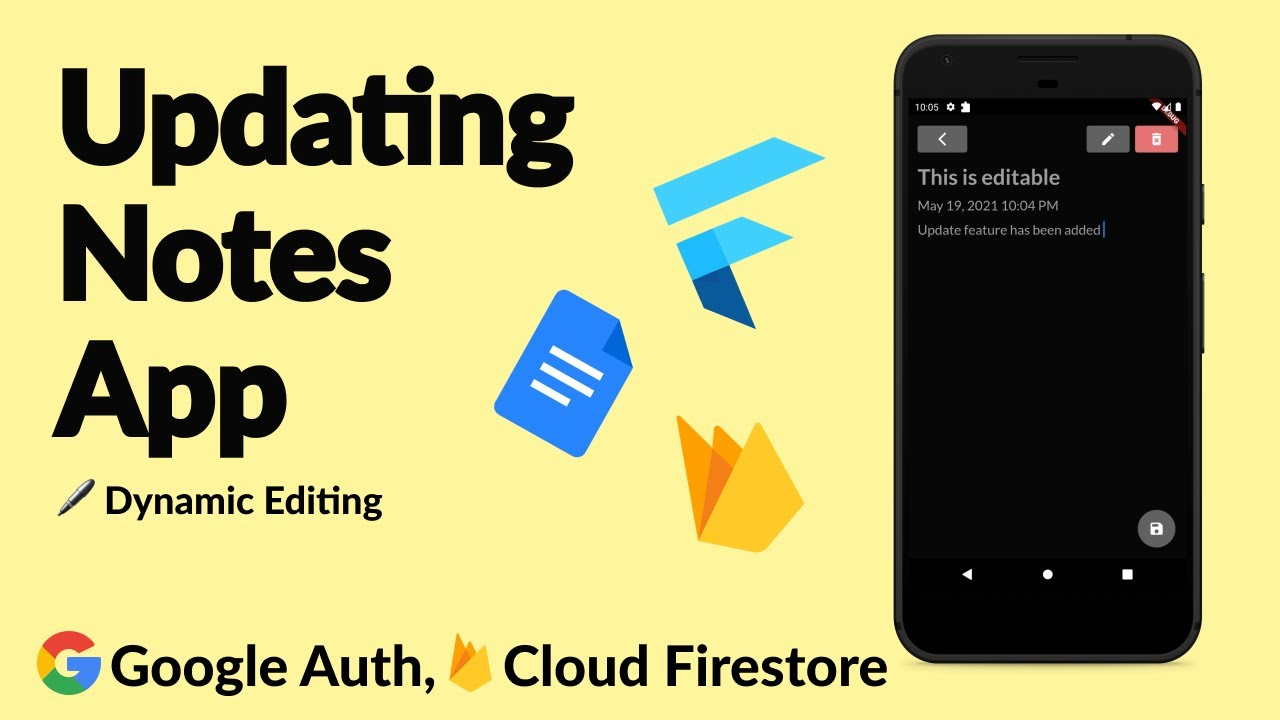 Adding Dynamic Update Feature to Flutter-Firebase Notes