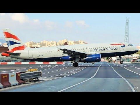 Dangerous Gibraltar Airport Plane Spotting 2018