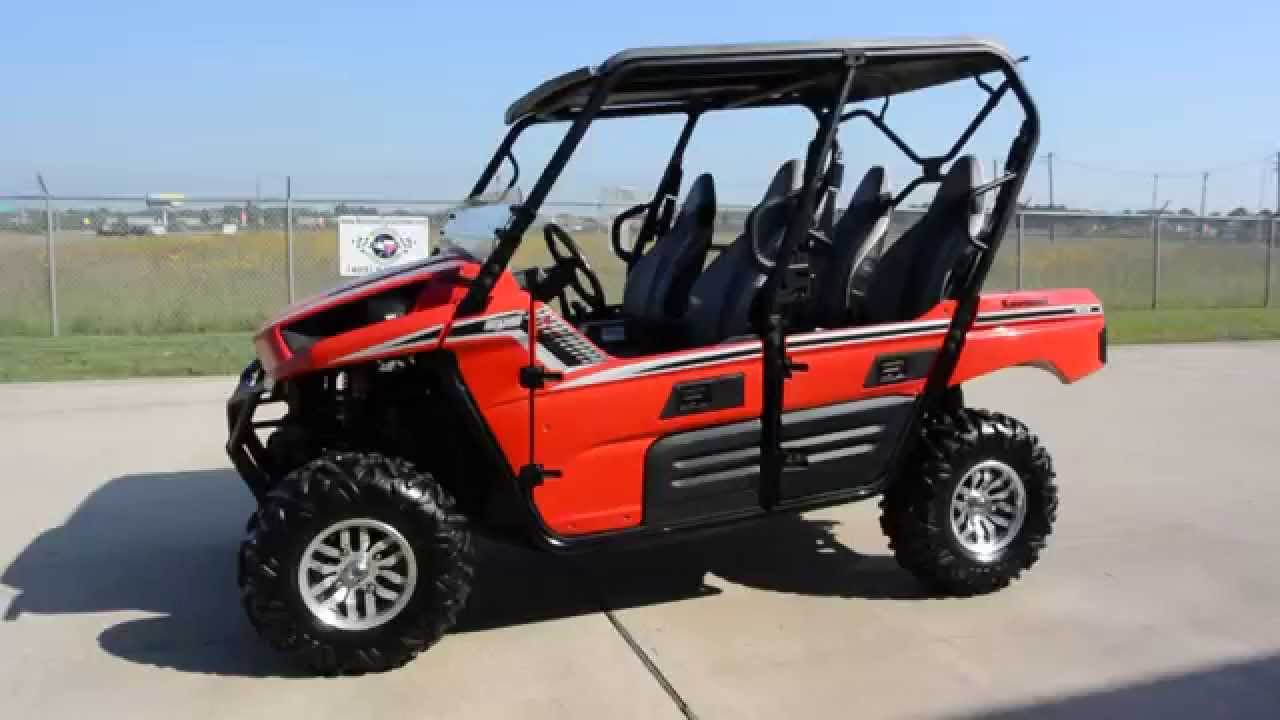 $10,999: for sale used 2013 kawasaki teryx4 le red - youtube