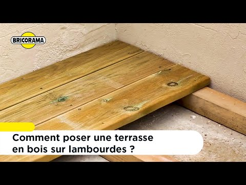 Tuto Poser Une Terrasse En Bois Sur Lambourdes Bricorama Youtube