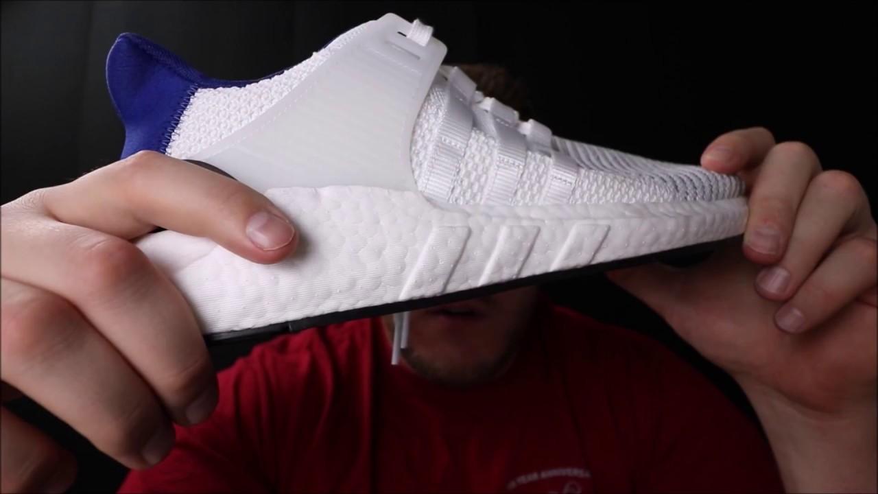 Adidas EQT Support 93 / 17 reseña real de YouTube y en los pies