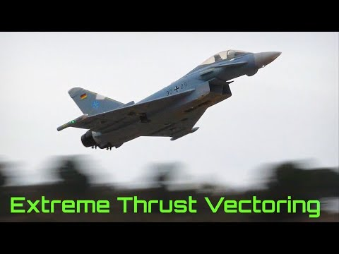 Eurofighter - Extreme Thrust Vectoring Maneuvers In Slow Motion! - HD 50fps