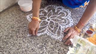 Free Hand Rangoli Drawing Technique Learn