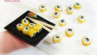 Суши  «Филадельфия» из FIMO(Тарелочка суши