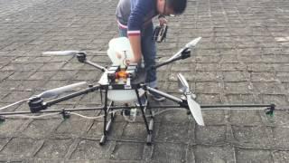 S/N20160223 Quad 10kg agricultural UAV Drone Test flying video.