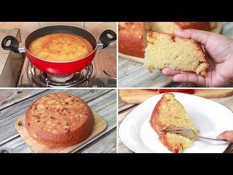 Suji Cake Direct In Kadai   Eggless & Without Oven   Yummy   Eggless Semolina Cake   Rava Cake