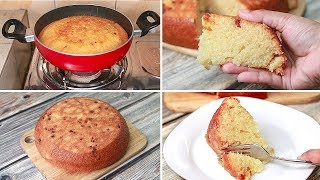 Suji Cake Direct In Kadai | Eggless & Without Oven | Yummy | Eggless Semolina Cake | Rava Cake