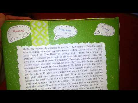 Cereal Box Book Report Diary Of A Wimpy Kid Part 2