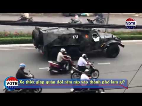 Xe tăng thiết giáp quân đội tiến vào thành phố, Nguyễn Phú Trọng muốn làm gì? #VoteTv
