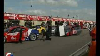 Accidents in the Stand in British GT at Thruxton