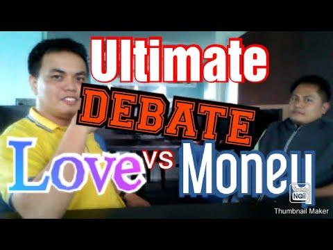 Money vs.love debate