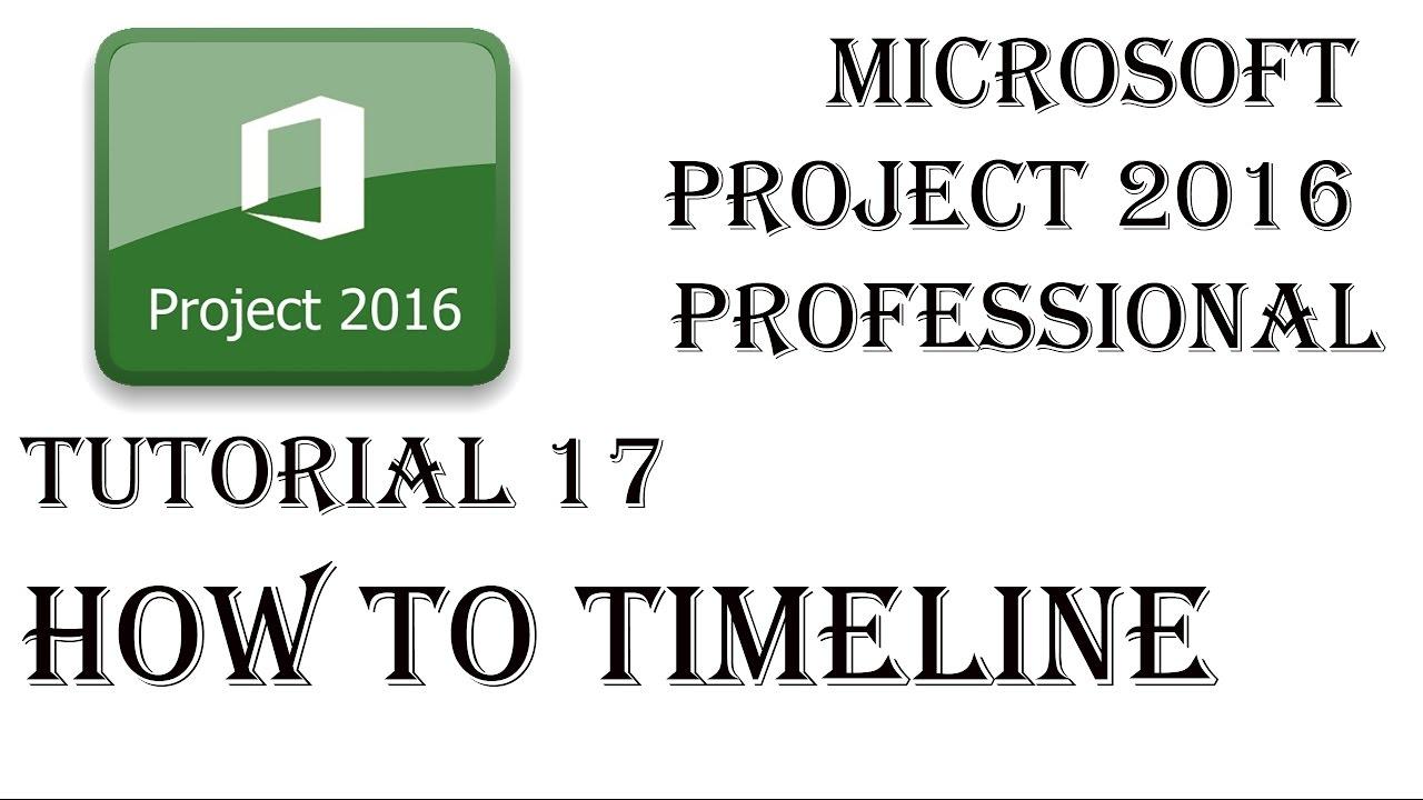 microsoft project 2016 tutorial pdf