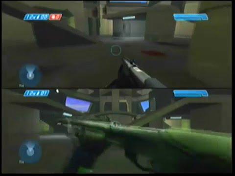 Halo Combat Evolved split screen multiplayer (one vs one)