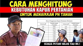 Download lagu Cara menghitung kebutuhan kapur pertanian  dolomit  menaikkan pH tanah Part 2.