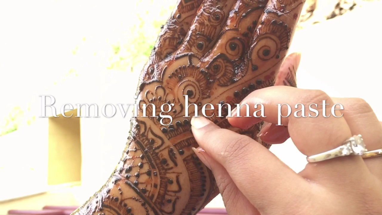 How to wash off henna