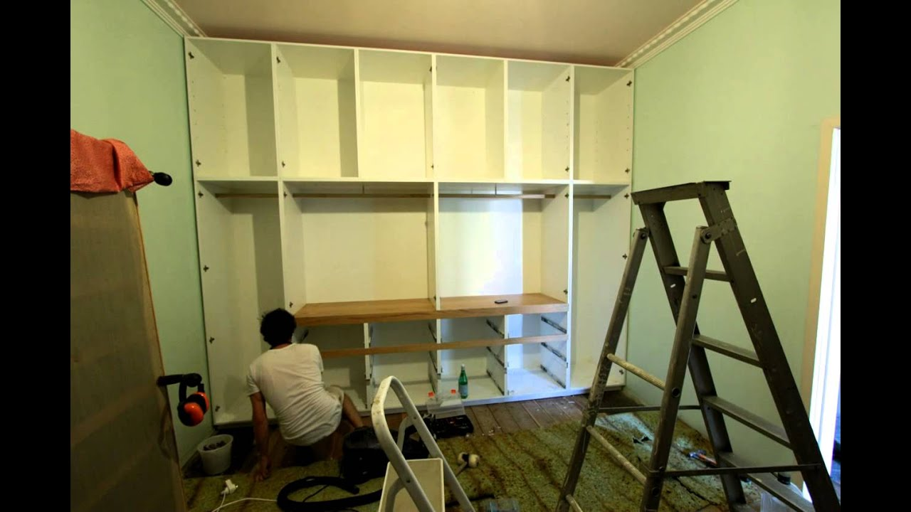 Time Lapse Built In Wardrobe Construction Youtube