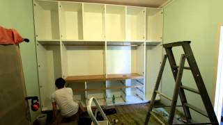 Time lapse - built in wardrobe construction