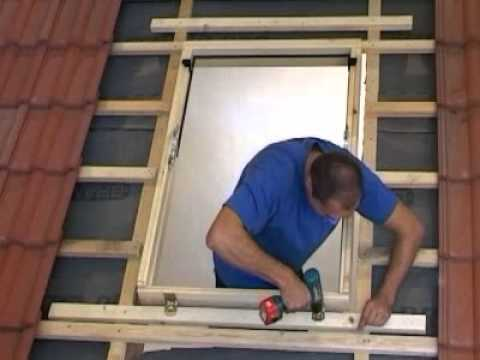 Extremely Dachfenster einbauen, wie die Eindeckrahmen auf Ziegel befestigt  LI19