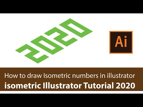 How to draw Isometric numbers in illustrator 2020 | Illustrator tutorial 2020 thumbnail