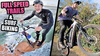 DREAMY FULL SPEED MTB TRAILS AND RIDING A CRAZY SURF MOUNTAIN BIKE!