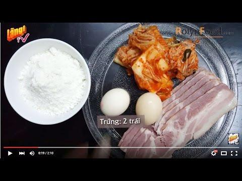 Cách làm bánh kim chi của Lee Hyori trong Family outing - Rolynfood