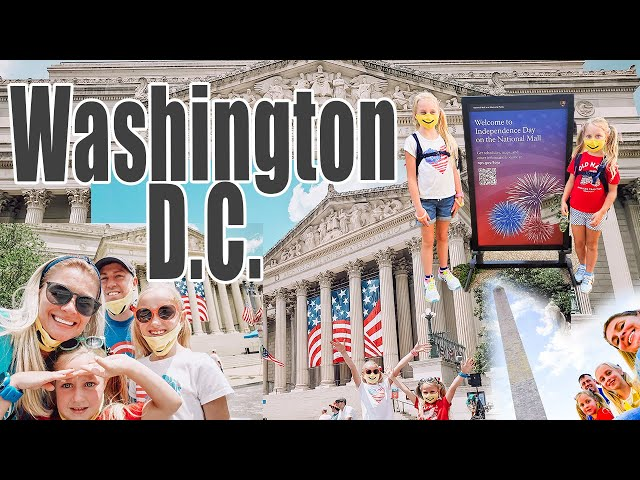OUR FIRST FAMILY VISIT TO WASHINGTON D.C. | 4th of July Fireworks National Mall | D.C. With Kids