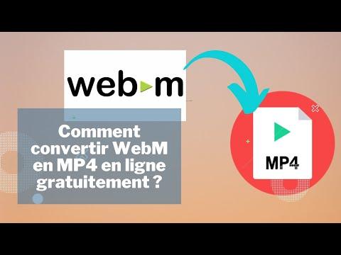 Comment Convertir WebM en MP4 En ligne Gratuit