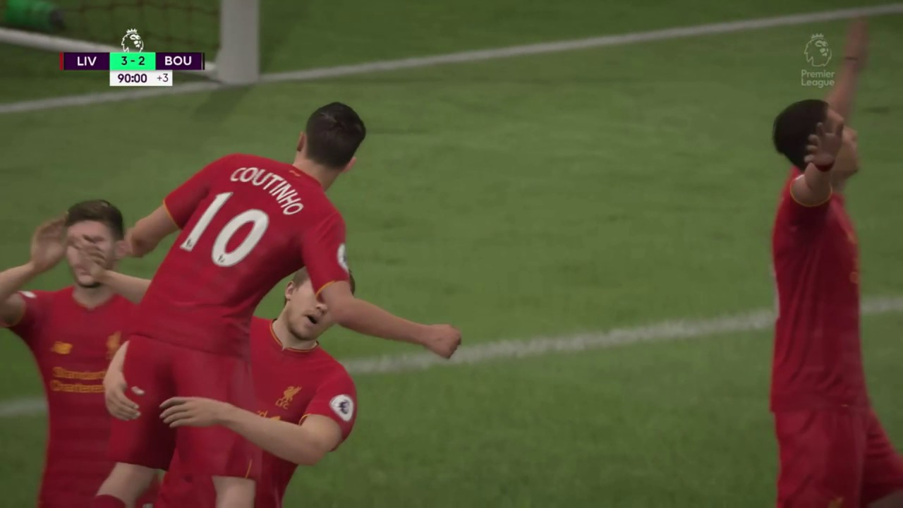 Liverpool Vs Bournemouth Totalsportek: FIFA 17: Liverpool FC Vs AFC Bournemouth 2017