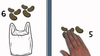 Optellen over het tiental heen - de oefening met de bonen