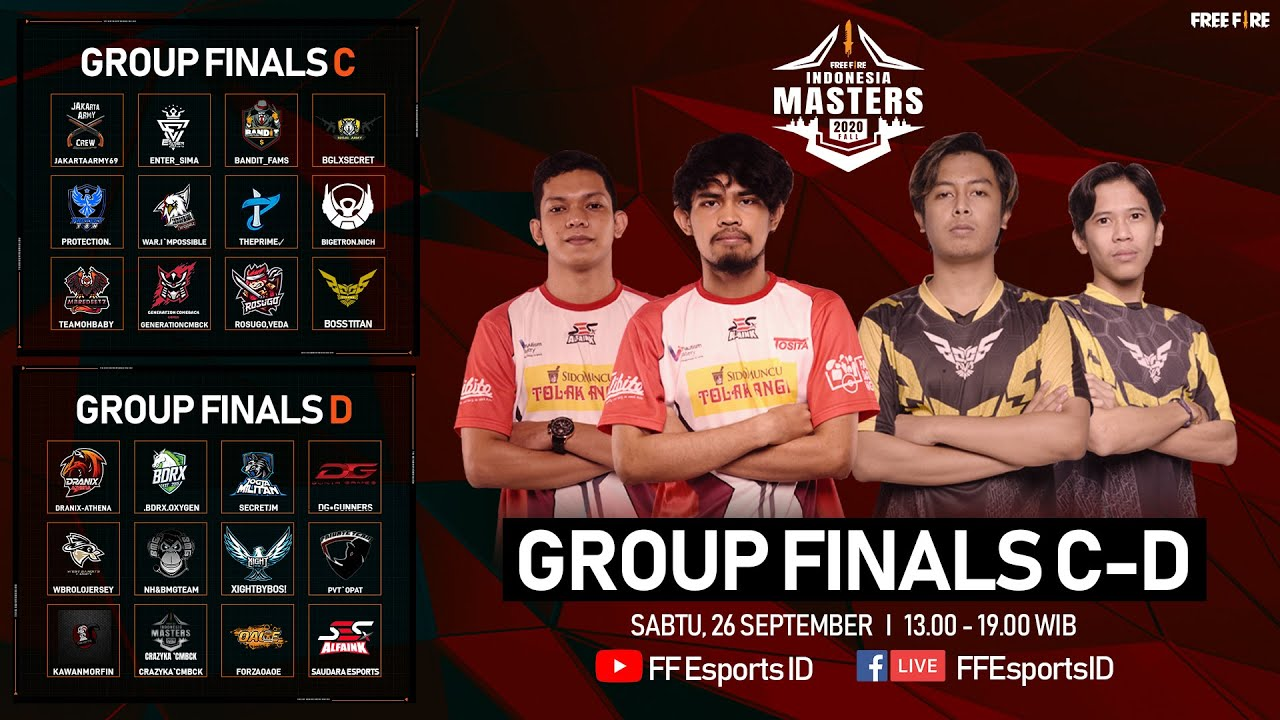 [2020] Free Fire Indonesia Masters 2020 Fall | Group Finals | Group C - D