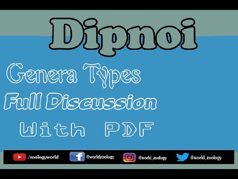 Dipnoi |All Genera| |Full Discussion| |With PDF|