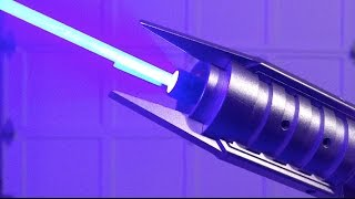 REAL Lightsaber - Homemade 7W Laser in SaberForge Reborn Hilt!