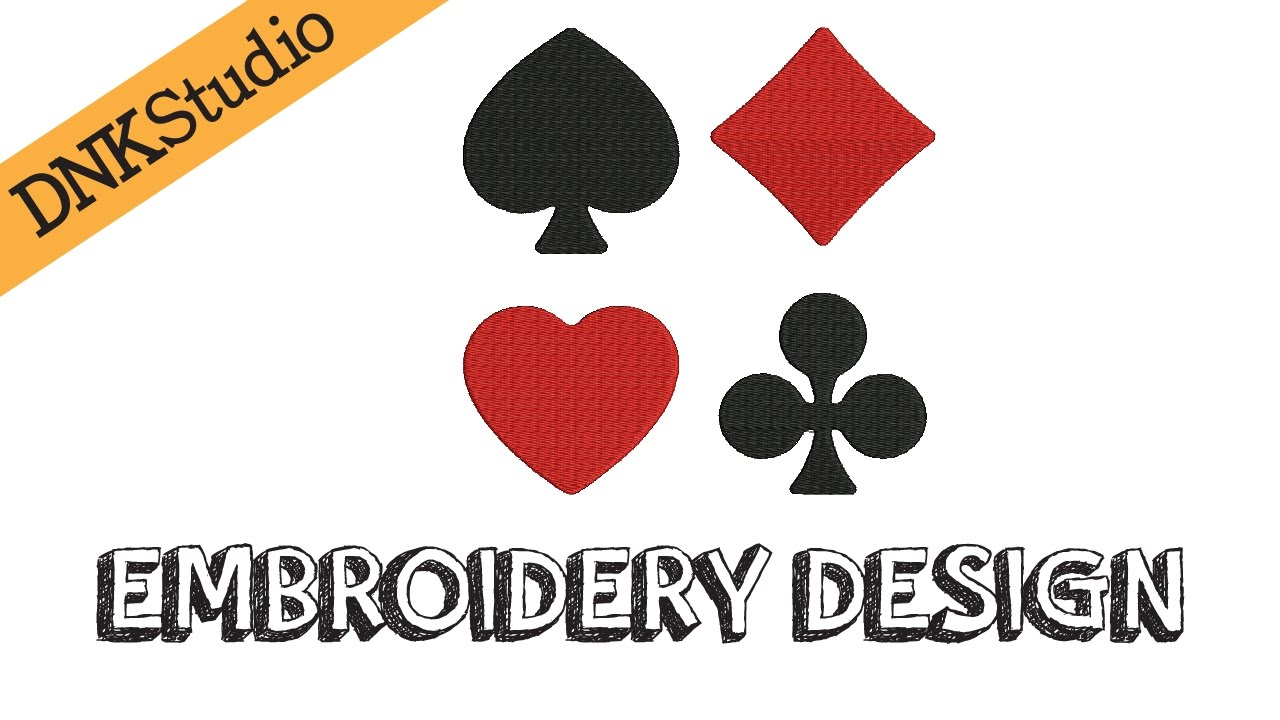 Playing card symbols suits embroidery design youtube playing card symbols suits embroidery design biocorpaavc