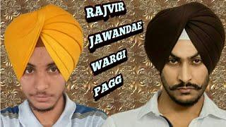 rajvir jawanda style patiala shahi pagg,dastar,turban king jaskarandeep singh