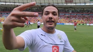 EXCLUSIVO  Wesley Safadão faz a festa no Jogo das Estrelas no Maracanã