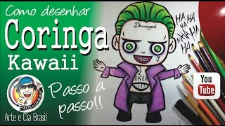 Como desenhar o CORINGA estilo Kawaii/Cartoon