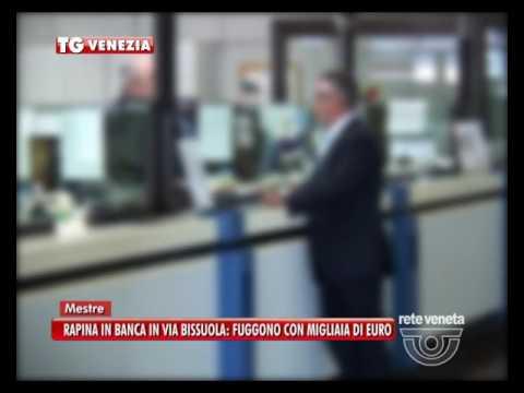 TG VENEZIA (20/10/2016) - RAPINA IN BANCA...
