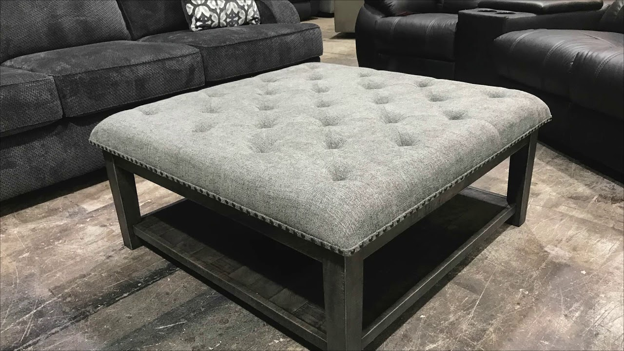 - October Square Ottoman-Style Coffee Table With Storage - YouTube