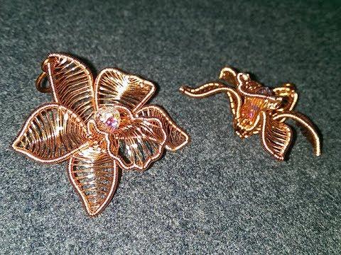 Cymbidium Orchid Copper Flower 3d Pendant 273 Youtube
