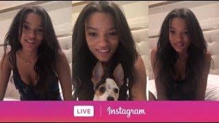 Victoria's Secret's Model Lameka Fox via Instagram Live. (July 17, 2018)